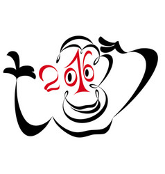 Year of the monkey 2016 vector