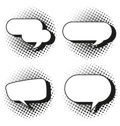four design of speech bubbles vector image vector image