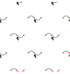 line and arrow pattern seamless vector image