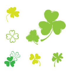 Shamrock icon for st patrick day vector