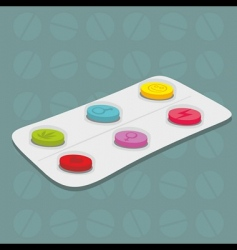 tablets background vector image