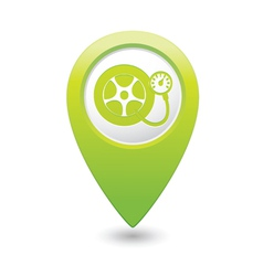 wheel pump icon green map pointer vector image vector image