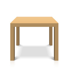 Wooden square coffee table vector image vector image