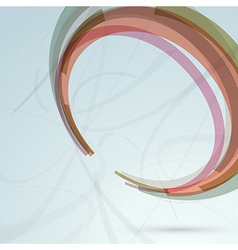 Background with transparent circle design element vector image