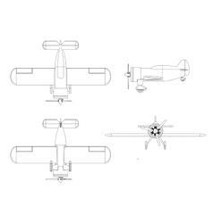 Isolated propeller plane set vector