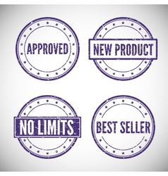Set stamp for trade and business vector image