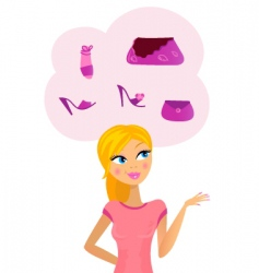 woman on shopping vector image