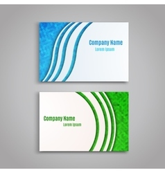 Creative business cards vector image vector image