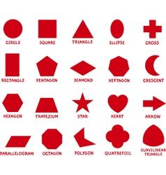 education basic geometric shapes vector image vector image