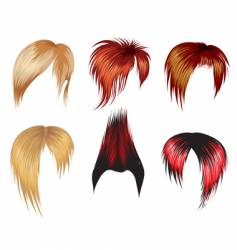 set of hair style samples vector image vector image