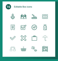 16 box icons vector