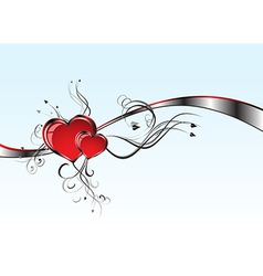 2 Hearts And Valentins Day vector image