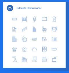 25 home icons vector