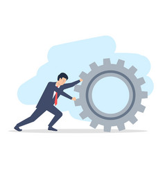 a young man in a suit a businessman is rolling a vector image