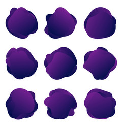 abstract fluid purple shapes abstract round vector image