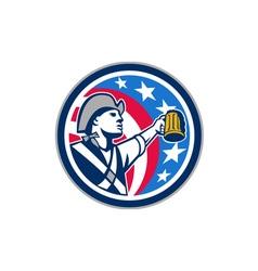 American Patriot Craft Beer Mug USA Flag Circle vector