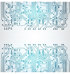 Background with circuit board texture vector image