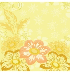 Background with flowers dahlia vector