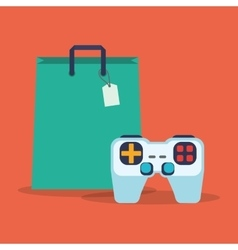 Bag gift console portable gamepad online vector