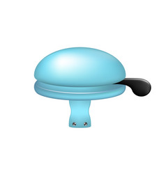 Bicycle bell in light blue design vector