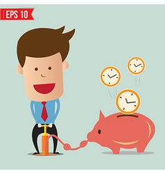 Business man pump time - - EPS10 vector image