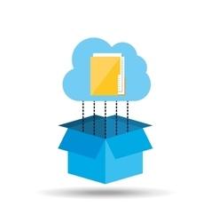 Cloud technology folder file connection design vector