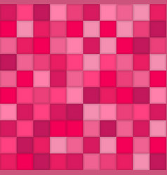 color pink mosaic tile square vector image