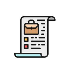Company charter stocks portfolio flat color icon vector