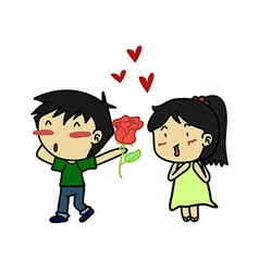 Couples of lover vector image