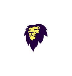 creative lion logo templates vector image
