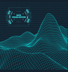 data visualization background futuristic design vector image