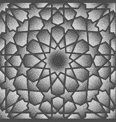 Dot ornament persian vector