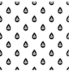 drop eco pattern seamless vector image