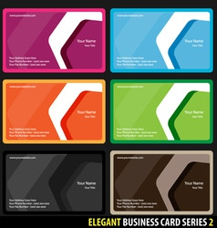 elegant business cards vector image