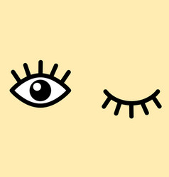 Eyes and eyelashes icon vector