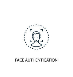 face authentication concept line icon simple vector image