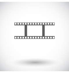 Film flat icon vector image