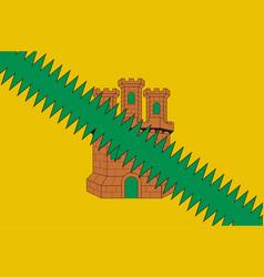 Flag cuadrilla de salvatierra in basque vector
