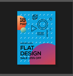 flat design poster templates vector image