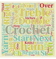 free crochet pattern text background wordcloud vector image