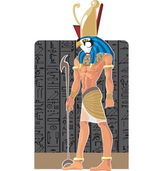 Gor on dark Egypt background vector image