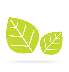 Green leaves isolated on white background vector