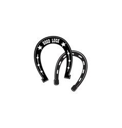 horse shoe icon lucky steel horseshoes set vector image