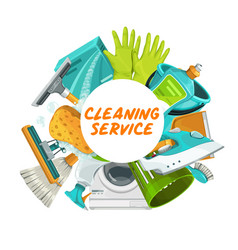 house cleaning housekeeping and household chores vector image