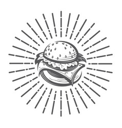 image with burger vector image
