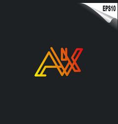 Initial ak logo monogram design template simple vector