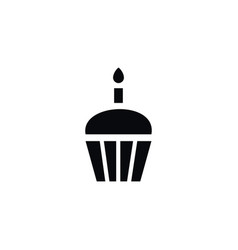Isolated muffin icon dessert element can vector