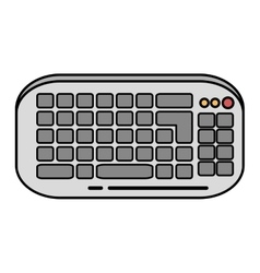 Keyboard computer device isolated icon vector