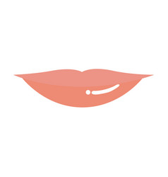 light colors of silhouette of red lips vector image