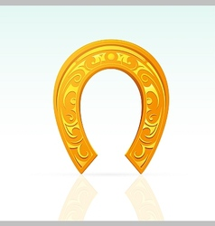 Lucky horseshoe with ornament vector
